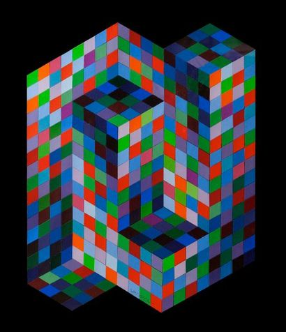 VICTOR VASARELY (1908-1997)  Composition...