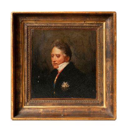 ÉCOLE FRANCAISE DE LA PREMIERE MOITIE DU XIXE SIECLE  Portrait d'Adrien de Montmorency-Laval Huile...