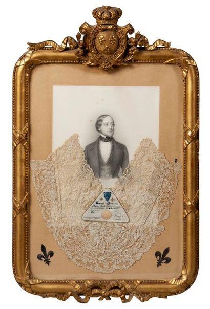 RARE SOUVENIR HISTORIQUE du comte de Chambord....