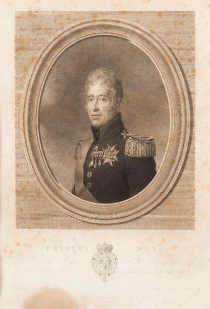 LITHOGRAPHIE représentant le Charles X en...