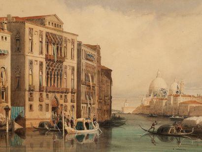 PIERRE-EUGENE GRANDSIRE (1825, ORLEANS – 1905, PARIS)  Le comte de Chambord quittant...