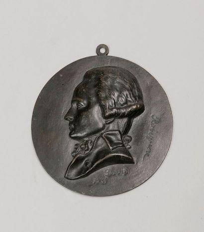 DAVID PIERRE-JEAN DIT DAVID D'ANGERS (1788-1856), D'APRES. Portrait de Maximilien...