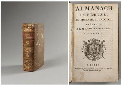 ALMANACH IMPERIAL pour l'année 1812 (an bissextil),...