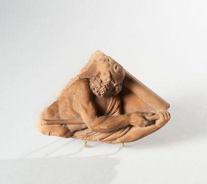 SOUVENIR HISTORIQUE DU PALAIS DE SAINT-CLOUD  Fragment d'une frise en terre cuite,...