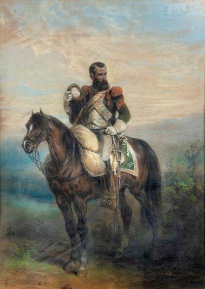 HIPPOLYTE BELLANGE  (1800-1866)  Cuirassé...