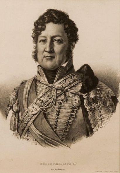 LITHOGRAPHIE représentant Louis-Philippe, duc d'Orléans, futur roi des Français,...