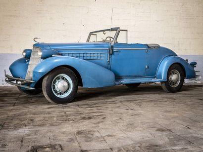 Cadillac 355 cabriolet V8 2 places Cadillac 355 cabriolet V8 2 places 1935 N° châssis...