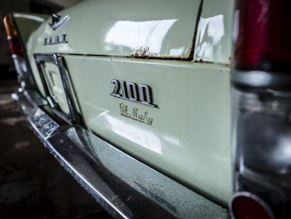 Fiat 2100 berline Fiat 2100 berline 1963 N° châssis ou moteur : 112008267 A partir...