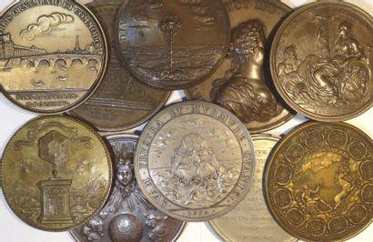 Louis XIV, lot de 10 médailles