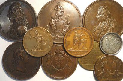 Louis XV, lot de 10 médailles