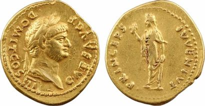 Domitien César, aureus, Rome, 74 Domitien César, aureus, Rome, 74  A/CAES AVG F -...
