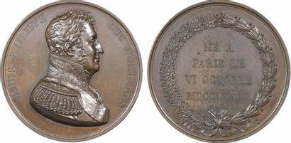 Louis XVIII, Louis-Philippe, duc d'Orléans, par Dieudonné, s.d. (c.1813) Paris