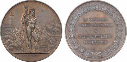 Louis XVIII, la Compagnie royale d'Assurances (Neptune), 1817 Paris