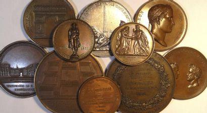 Louis-Philippe Ier, lot de 10 médailles