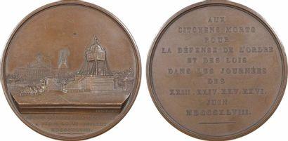 IIe République, cérémonie funèbre pour les victimes des journées de juin, 1848 Paris