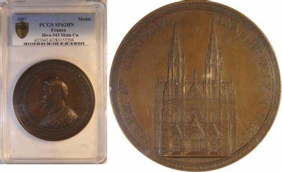 Second Empire, inauguration de l'église Sainte-Clotilde de Paris, par Merley, 1857 Paris, PCGS SP62B