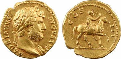 Hadrien, aureus, Rome, 125-128