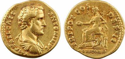 Antonin (sous Hadrien), aureus, Rome, février à juillet 138 Antonin (sous Hadrien),...
