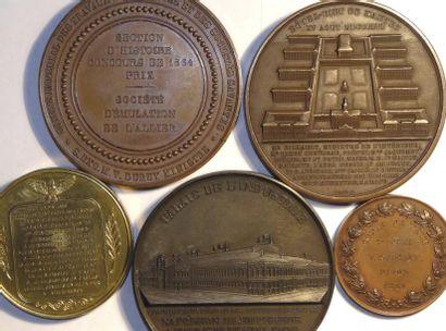 Second Empire, lot de 5 médailles Second Empire, lot de 5 médailles  TTB+ -   -  Lot...