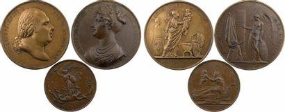 Maison de Bourbon, lot de 3 médailles