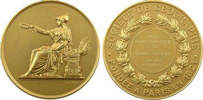 IIIe République, prix Henri Duveyrier de la Société de Géographie à Jacques Soubrier, en or, 1937 Pa