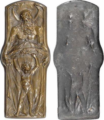 IIIe République, le Temps (Chronos), élément de décoration, s.d