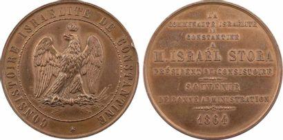Algérie, le consistoire israélite de Constantine à M. Israel Stora, 1864 Paris Algérie,...