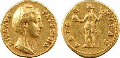 Divine Faustine Mère, aureus, Rome, après 141
