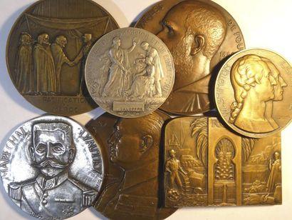 Colonies françaises, Afrique, Algérie, Maroc, lot de 7 médailles