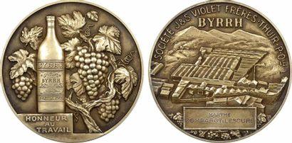 Bétannier (R.) : médaille du travail des caves Byrrh, vin apéritif, s.d. Paris