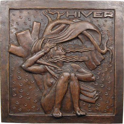 Dropsy (H.) : l'Hiver, grande fonte, s.d. (1927) Paris (Canale) Dropsy (H.) : l'Hiver,...
