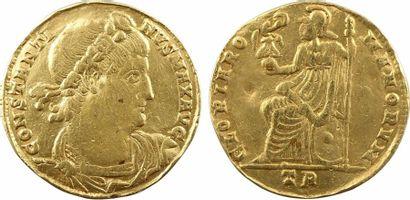 Constantin Ier, médaillon de 2 solidi, s.d. (début 335) Trèves