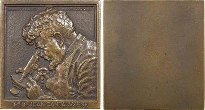 Lavrillier (A.) : le Professeur Docteur Jean Cantacuzène, plaque uniface, 1933 Paris
