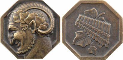 Turin (P.) : Tête de faune, fonte de bronze, s.d. Paris