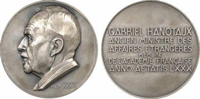 Turin (P.) : Gabriel Hanotaux, de l'Académie Française, en argent, 1933 Paris