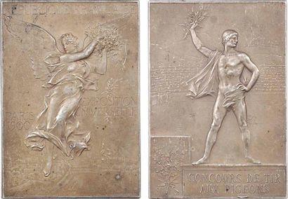 Vernon (F.) : Exposition Universelle et Jeux Olympiques de Paris, concours de tir aux pigeons, 1900