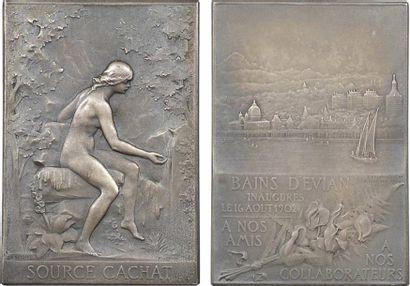 Vernon (F.) : la Source Cachat et l'inauguration des Bains d'Évian, 1902 Paris