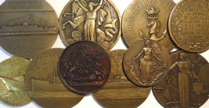 Bateaux/navigation : lot de 10 médailles