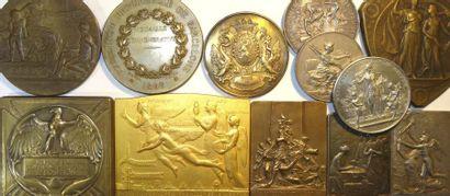 Expositions (Universelles, Internationales, Nationales)  et concours : lot de 12 médailles