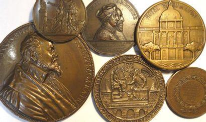 Médecine : lot de 6 médailles