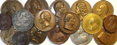 Personnages divers (portraits) : lot de 17 médailles