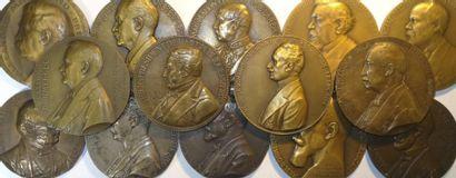 Présidents de la IIIe République : lot de 14 médailles