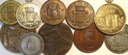 Villes : lot de 10 médailles