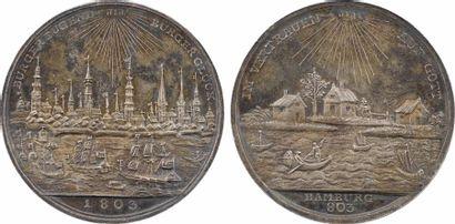 Allemagne, Hambourg (ville de), millième anniversaire de la ville par A. Abramson, 1803 Berlin ?