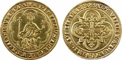 Philippe IV, denier d'or à la masse, 1re émission (10 janvier 1296) Philippe IV,...