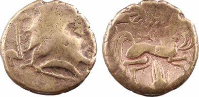 """Pictons, statère d'or bas titre dit """"à la main"""", c.80-50 av. J.-C. Pictons, statère..."""