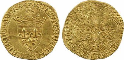 Charles VI, écu d'or à la couronne 4e émission, Limoges (?)