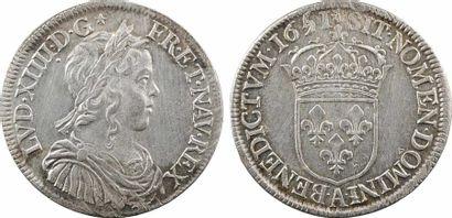 Louis XIV, demi-écu à la mèche longue, 165[/4]1 Paris