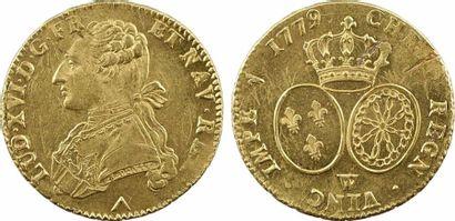 Louis XVI, double louis d'or aux lunettes, 1779 Lille Louis XVI, double louis d'or...