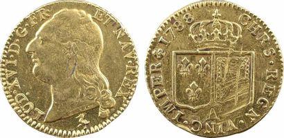 Louis XVI, louis d'or à la tête nue, 1788, 2d semestre Paris